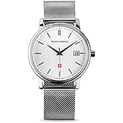 Men's Watch Nelson Martina Classic Silver 303