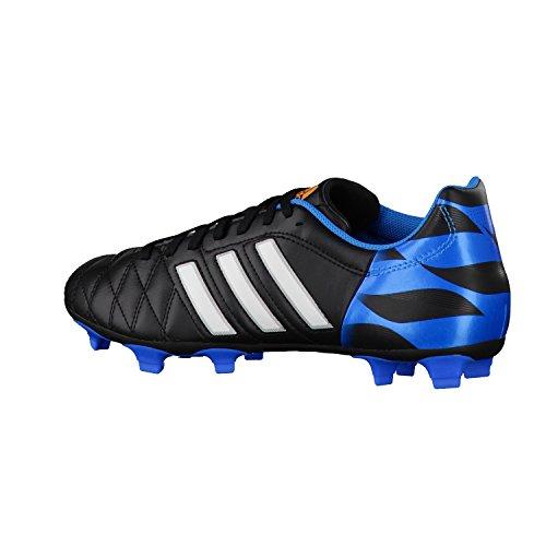 adidas 11Questra Fg, Chaussures de football homme Noir (Noiess/Blaess/Blesol)
