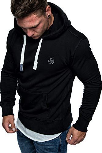 Und 1 Pullover (Amaci&Sons Herren Basic Logo Kapuzenpullover Sweatjacke Pullover Hoodie Sweatshirt 1-04028 Schwarz XL)