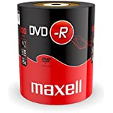 Maxell DVD-R 4.7 GB 16X 120 Min Video - Matt Silver (100 Disk Pack - Shrink Wrapped)