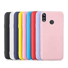 9X Compatibile con Cover Huawei P20 Lite, Ultra-Sottile Tinta Unita Silicone Morbido TPU Custodia Protettiva Anti-Urto Anti-Graffio Cellulari Protezione Paraurti Case - Nove Colore