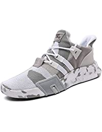 GJRRX Zapatillas Running para Hombre Aire Libre y Deporte Transpirables Casual Zapatos Gimnasio Correr Sneakers Rojo Azul Negro Gris 39-44