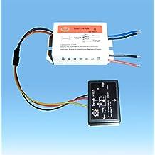 220V ON / OFF specchio isolato tocco interruttore per la luce di lampada a risparmio energetico LED