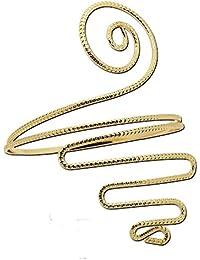 1 Moda superior del brazo pulsera brazalete de oro de la plata Brazalete Mujeres en Espiral de la Serpiente Boho Chic