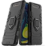 armor case for Samsung Galaxy a80 Magnetic Shockproof Car Ring Back Cover