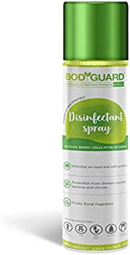 BodyGuard Disinfectant Sanitizer Spray for Multi-Surfaces, Alcohol Based - 300 ml