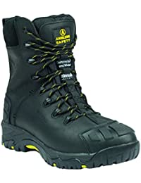 Amblers Safety Mens FS999 Leather Waterproof Safety Boots Black