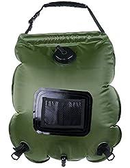 Holzsammlung Ducha solar, bolsa de 20 litros para colgar PVC Plegable Portátil para Camping Excursión