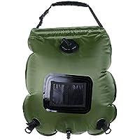 Holzsammlung Ducha solar, bolsa de 20 litros para colgar PVC Plegable Portátil para Camping Excursión Al Aire Libre #Verde