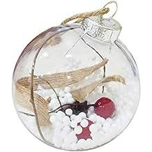 bb8d8c599a59b Bolas de Navidad Transparentes - Pequeño Bolas de Plastico Adornos Colgante  de Arbol Navideños