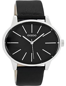 Oozoo Damenuhr mit Lederband 45 MM Schwarz/Schwarz C9159