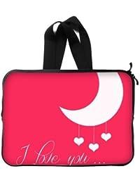 Perfecto regalo Ich liebe dich a la luna Laptop Sleeve 14pulgadas maletín bolsillos Bolsos (Twin Sides)