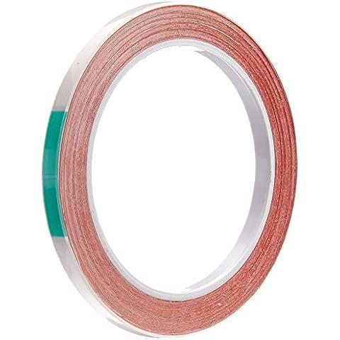 tapecase 0,125-5-3m 55593m 5559Papel Blanco/adhesivo acrílico ultra thin Indicador de contacto de agua cinta, 0,005grosor, 5m de longitud, 0,125cm de ancho.