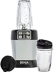 Ninja BL480 Blender, Servicio Individual, Auto-Iq, 1000 W, Acero Inoxidable, Negro/Plateado