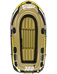 Inflatable dinghy 4personas 304kg bote hinchable de goma rodamientos (0,55mm espesada PVC Barco de pesca con bomba y remos de aleación de aluminio