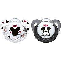 NUK Disney Mickey Silikon-Schnuller, kiefergerechte Form, noch zahnfreundlicher, 2 Stück