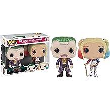 Funko - Figurine DC Heroes Suicide Squad - Joker & Harley Quinn Pack Exclu Pop 10cm - 0849803091330