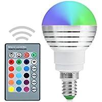 STTMA E14 AC 85-265V Dimmable Lampada RGB 5W ha condotto le lampadine variopinte dei lampadari di RGB ha condotto il regolatore a distanza IR di IR (1PCS)