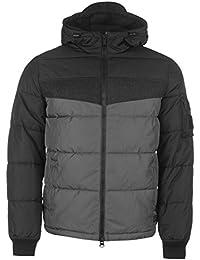Firetrap Mens Puffer Jacket Padded Coat Top Long Sleeve Hooded Zip Full