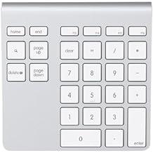 Belkin YourType F8T068vf - Teclado numérico inalámbrico (Bluetooth) para iBook, iMac, MacBook, MacBook Pro/Air - Design Apple, gris aluminio