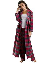 The Irish Linen Store Heather Brushed Cotton Robe de Chambre Femme