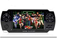 Zrose PSP Game console with 10000 Games, Music, Alarm, Calculator Camera, SD Card Slot And 1 Set cartoon Earphone/minion earphone (Black)