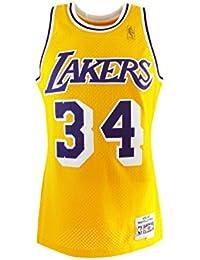 Mitchell & Ness Shaq O'NEAL # 32Los Angeles Lakers 1996–97swingman NBA Maillot Jaune