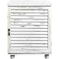 Álbum de baño almacenaje del gabinete burrda dormitorio madera blanca vintage (Cod. 0-1543)