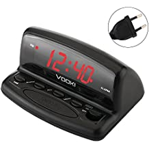 Despertador Digital, VOOKI  LED Despertador Electrónico, Snooze y Sleep-Timer para mesa, dormitorio, oficina etc.