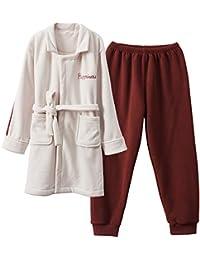 b0ca2b6160 Mmllse Pareja De Pijamas De Terciopelo De Invierno Gruesa para Hombres Y  Mujeres Cálidos Traje Largo