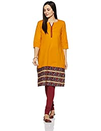 Amazon Brand - Myx Women's Straight Kurta