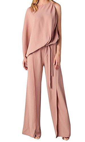 Damen Hosenanzüge Sexy Eine Hülse Niedlichen Rosa Slim Fit Overall