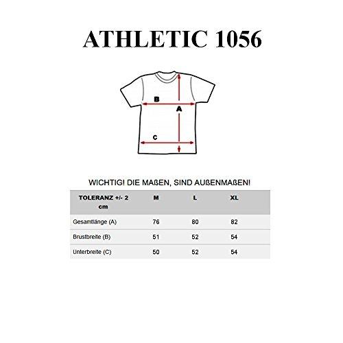 BOLF Herren Muskelshirt Ärmelloses T-Shirt Tank Top Print Shirt Men ATHLETIC 1056 Dunkelblau