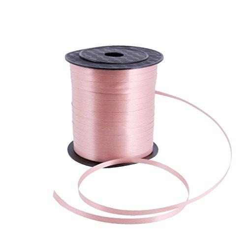 SROVFIDY 225m Band-Bindung krawatten Ball-Ballon-Dekoration-Geburtstags-Party (light pink)