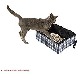 Decdeal - Arenero para Gatos Plegable Portátil Impermeable, Tela de Oxford