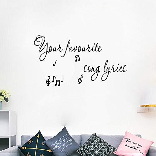 ellen Sie Ihre Eigenen Song Lyrics Wandkunst Aufkleber Decor PVC Wohnzimmer Aufkleber ()