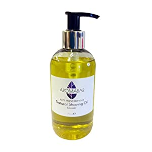 Natural Shaving Oil with Lavender Essential Oil 250ml Pre Shave Oil 100% Pure with Pump Dispenser or Use as a Post Shave Moisturiser
