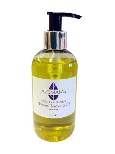 Natürliches Rasieröl mit ätherisches Lavendelöl für empfindliche haut 250ml Pumpspender (Natural Pet Medizin)