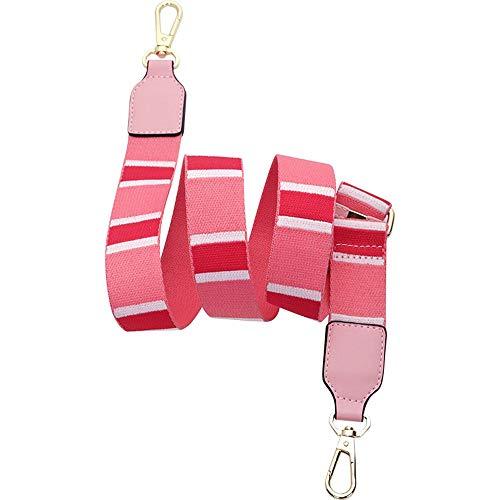 Ersatz-Schultergurt für Handtasche, 122 cm Länge, verstellbarer Gurt für Gitarre, Umhängetasche rose -