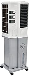 Crompton Mystique dlx ACGC-TAC201 honey comb pad Tower Air Cooler (White, Grey, 20 Litres)