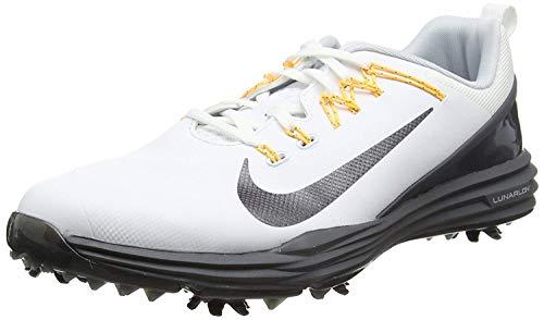 uk availability 288ef 247d9 Nike Lunar Command 2 Golf Shoes 2017 WhiteMTLC Dark GrayDark Gray Medium
