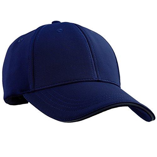 squaregarden Baseball-Mützen für Damen und Herren, verstellbares Visier Running Sport Mützen, Herren, Marineblau, Einheitsgröße Solid Twill Visor