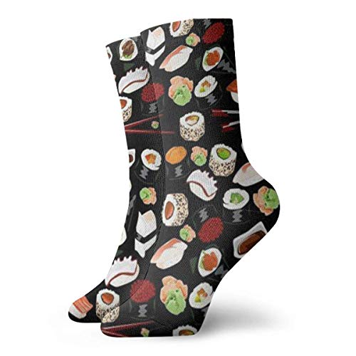 31c4647a2c CHSUNHEY Calcetines de compresi¨®n Unisex Japanese Sushi Breathable Fantasy  Ankle Running Hiking Socks