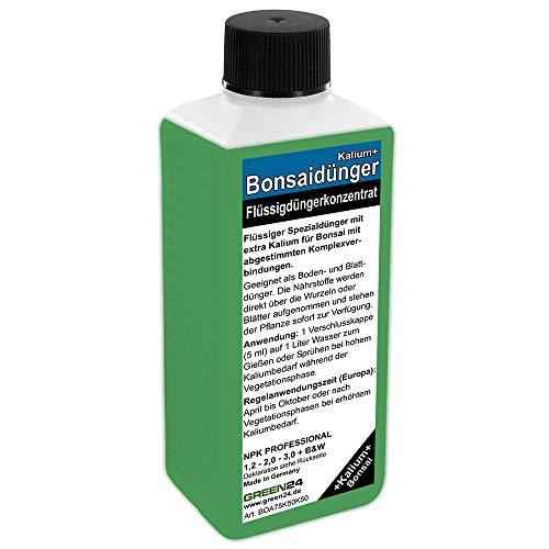 GREEN24 Bonsai-Dünger NPK Kalium+ HIGHTECH Dünger zum düngen von Bonsai Pflanzen, Premium Flüssigdünger aus der Profi Linie