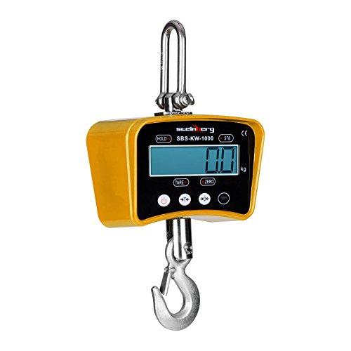 Balanza de grúa 1000 kg económica y con precisión 0,5 Kg La balanza de grúa Steinberg Systems SBS-KW-1000Y amarilla tiene un rango de medida hasta 1000 kg y una precisión de de 0,5 kg. Dispone de los últimos avances en electrónica para lograr resulta...