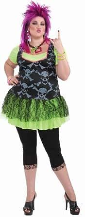 80s Punk Lady Costume (Plus Size) Fancy Dress