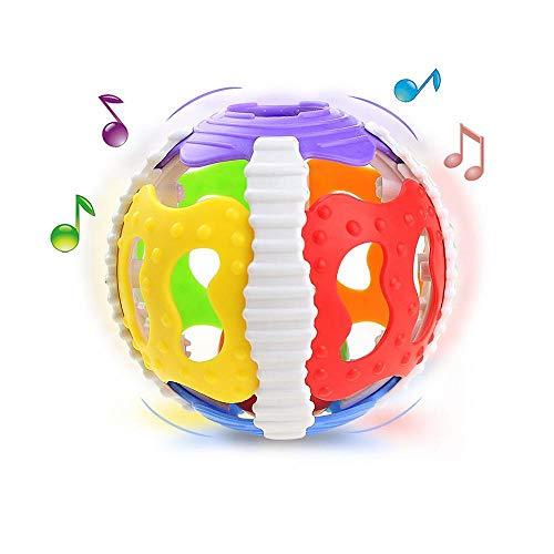 AOLVO Baby Rassel Spielzeug, Kleinkinder, Rassel Ball Handglocke Spielzeug früh Musikinstrument Lern-Entwicklung Aktivität Spielzeug für Baby & Kinder Jungen und Mädchen
