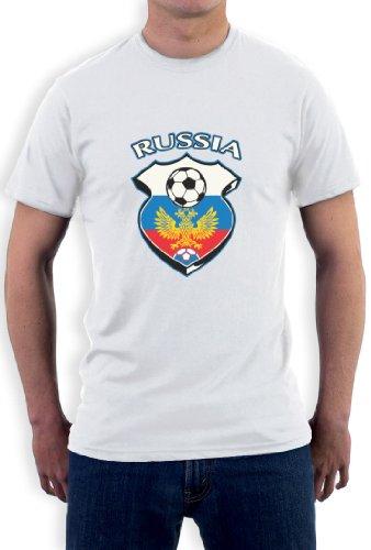 Russland World Cup Soccer T-Shirt Weiß