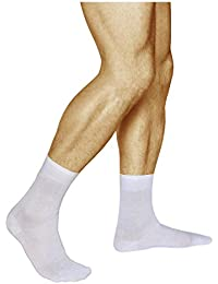 ec2205a2ff4 vitsocks chaussettes 100 COTON homme blanches noires ou grises (Lot de 3)  unies fines