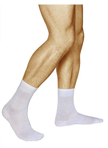 d9a24927bbd Vitsocks chaussettes 100 COTON homme blanches (Lot de 3) unies fines  confortables de qualité